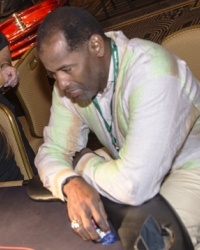 Richard Dent, Super Bowl MVP at a Dream Dealers Charity Poker Tournament #CelebrityPokerEventScottsdale  #ArizonaLocalCharity  #SupportLocalAZCharity