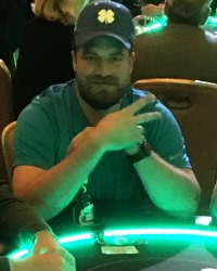 Ryan Fitzpatrick at a Dream Dealers charity poker tournament