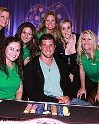 Tim Tebow stopped by a charity event, #CelebrityPokerEventScottsdale  #ArizonaLocalCharity  #SupportLocalAZCharity