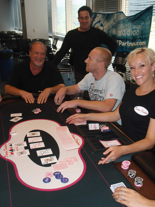 Jaime in her black Dream Dealers shirt